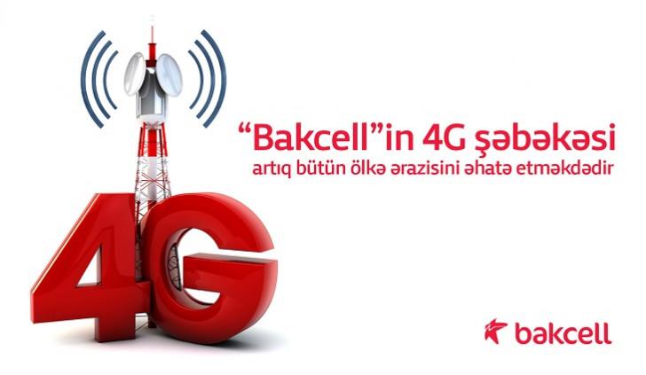"""""""Bakcell""""in 4G şəbəkəsi artıq bütün ölkə ərazisini əhatə etməkdədir"""