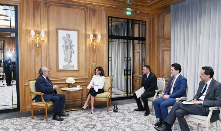 Birinci vitse-prezident Mehriban Əliyeva Fransanın Milli Xərçəng İnstitutunun təsisçisi professor David Hayat ilə görüşüb-