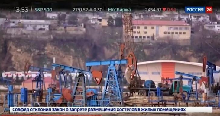 """""""Rossiya 24"""" kanalında Azərbaycan nefti haqqında xüsusi reportaj yayımlanıb-"""