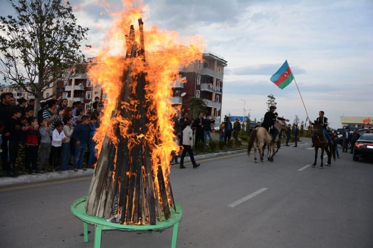 Tərtərdə məcburi köçkün şəhərciyində Novruz şənliyi keçirilib-