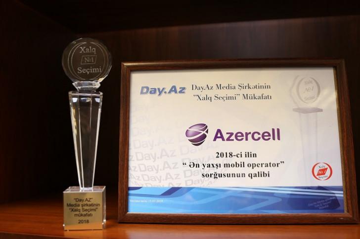 """""""Azercell"""" """"Ən yaxşı mobil operator"""" adına layiq görülüb"""