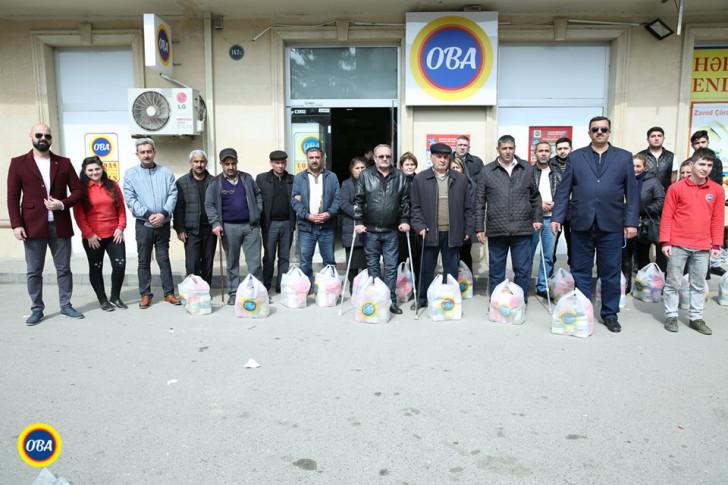 """""""Veysəloğlu"""" Qarabağ veteranları, şəhid və aztəminatlı ailələrə Novruz bayramı sovqatı paylayıb"""