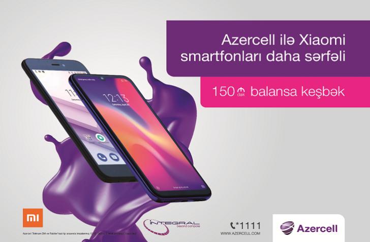 """Bu yaz Xiaomi smartfonu əldə et, """"Azercell""""dən hədiyyə qazan!"""