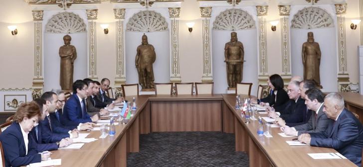 Gürcüstan parlamentinin Gürcüstan-Azərbaycan parlamentlərarası dostluq qrupunun üzvləri Diasporla İş üzrə Dövlət Komitəsində olub