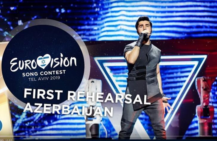 """""""Eurovision"""" təmsilçimiz Təl-Əvivdə ilk məşqinə çıxıb"""