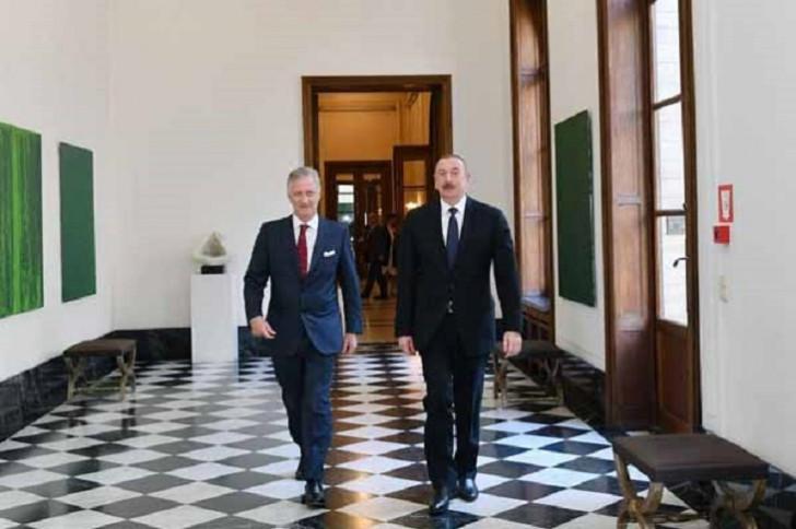 Prezident İlham Əliyev Brüsseldə Belçika kralı ilə görüşüb-