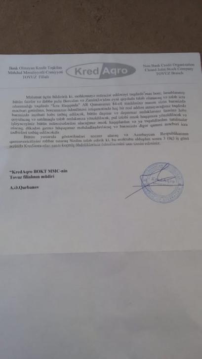 """""""KredAqro"""" prezidentin fərmanına məhəl qoymur:"""
