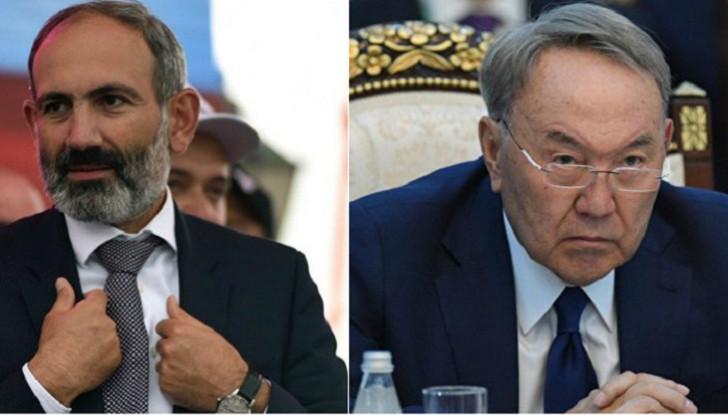 Nazarbayev Paşinyanı pərt elədi