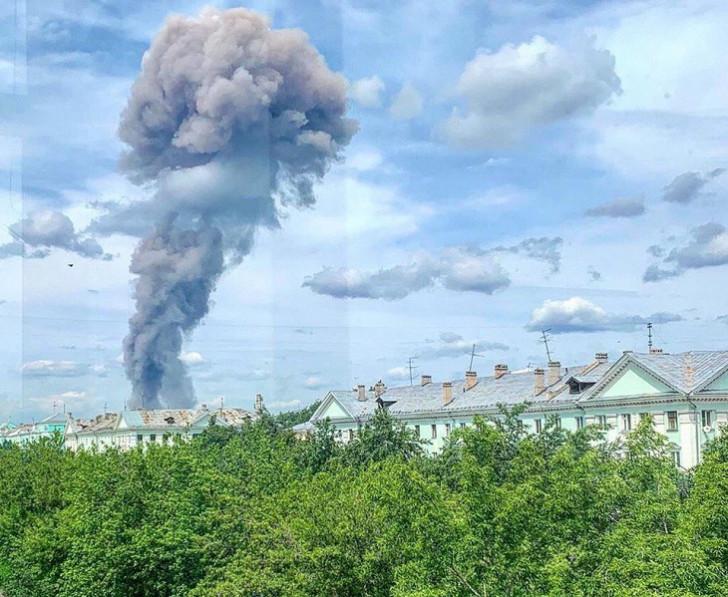 Rusiyada döyüş sursatlarının hazırlandığı zavodda güclü partlayış -