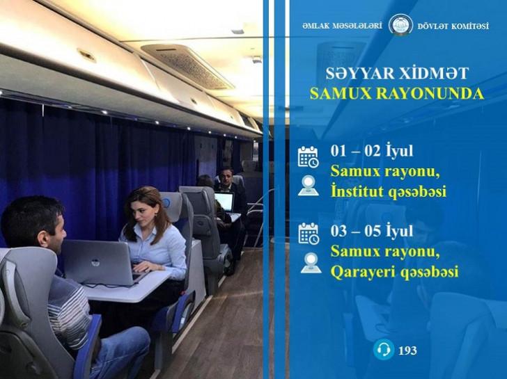 Səyyar qeydiyyat avtobusu Samuxda: