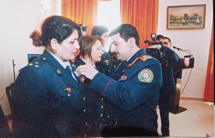 Ehtiyatda olan xanım hərbi qulluqçu prezidentə müraciət etdi: