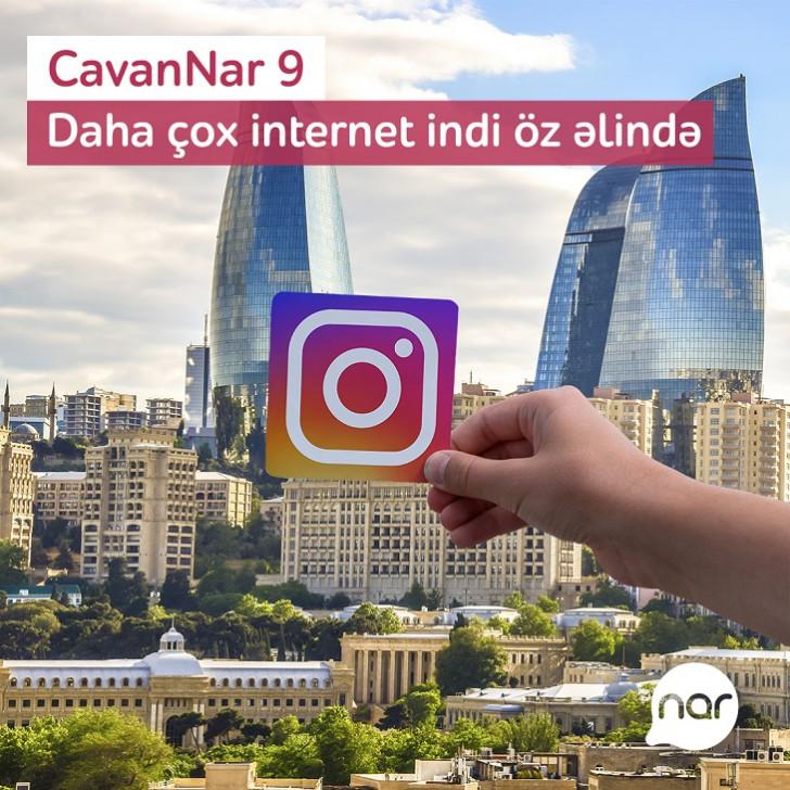 """""""CavanNar"""" tarifinə qoşul, 10 GB internet əldə et!"""