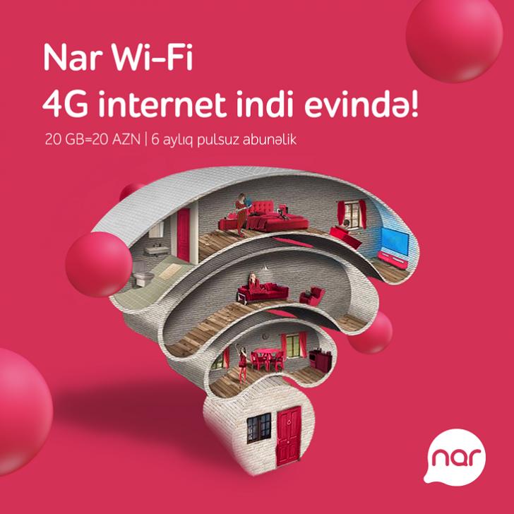 """""""Nar Wi-Fi"""" ilə bağ mövsümündə internetsiz qalma!"""