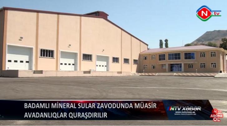 Badamlı Mineral Sular Zavodunda müasir avadanlıqlar quraşdırılır -
