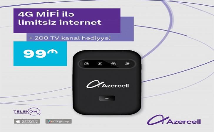 Azercell-dən yeni 4G MiFi kampaniyası