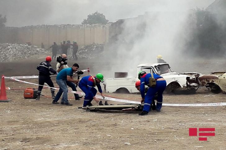 Göygöl rayonunda kompleks mülki müdafiə təlimi keçirilib