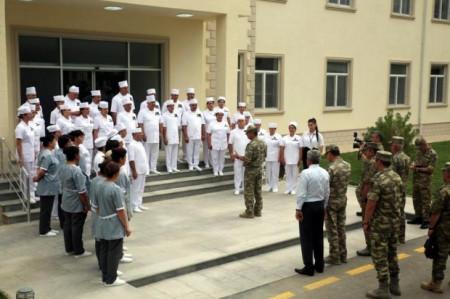 Cəbhəboyu zonada yeni hərbi hospital açılıb